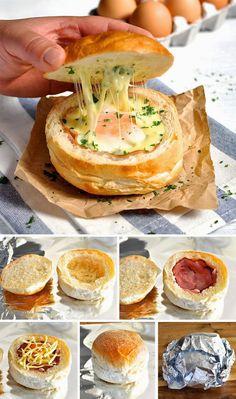 Daddy Cool!: Λαχταριστά γεμιστά ψωμάκια με 4 υλικά!Η τελεια λιχουδια που θα σας ξετρελανει