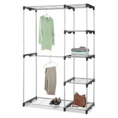 Garment Organizer Clothes Wardrobe Closet Storage Shelf Rod Rack Hanger Shelves #Whitmor