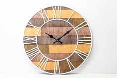 Georgeous Roman Wood Wall Clock, Awesome Gift For Your Home!   Diameter  40cm (