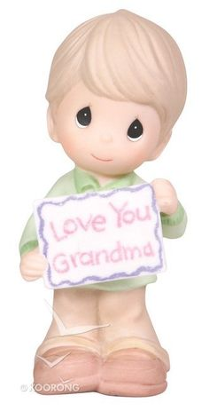 Buy Precious Moments Figurine: Boy, Love You Grandma Online - Precious Moments Figurine: Boy, Love You Grandma Homeware: ID 875555003291