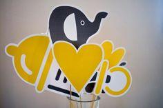 Bump Smitten: Real Baby Shower: Yellow & Gray Elephants {Part2}