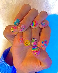 Aycrlic Nails, Swag Nails, Hair And Nails, Really Cute Nails, Pretty Nails, Nails For Kids, Cute Kids Nails, Nail Art Kids, Fire Nails