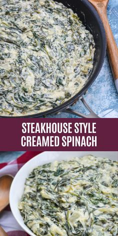 Amazing Recipes, Delicious Recipes, Healthy Recipes, Spinach And Cheese, Spinach Dip, Vegetable Side Dishes, Vegetable Recipes, Steakhouse Creamed Spinach Recipe, Easy Spinach Recipes