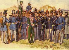 old Greek army uniforms Army Uniform, Military Uniforms, Military Costumes, Old Greek, Greek Warrior, Greek History, Midsummer Nights Dream, World War One, Napoleonic Wars