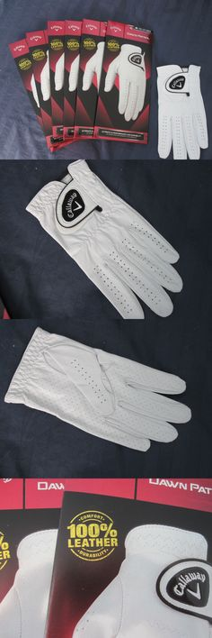 Golf Gloves 181135: 6 Callaway Dawn Patrol Leather Golf Gloves Size Medium Large New Mens -> BUY IT NOW ONLY: $64.98 on eBay!