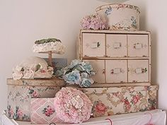 vintage chic storage boxes