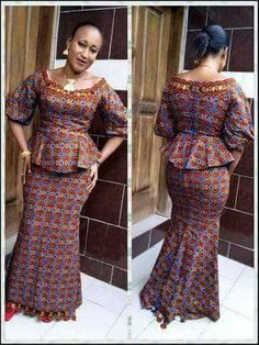 Check out Ankara Skirt and Blouse 2018 for African Queen .Check out Ankara Skirt and Blouse 2018 for African Queen Latest African Fashion Dresses, African Dresses For Women, African Print Fashion, Africa Fashion, African Attire, African Queen, Ankara Rock, African Blouses, Ankara Skirt And Blouse