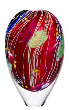 From Silent Auction 2014 This piece is a variation of 'Carnival' very few examples of this pattern (a pre-cursor to 'Arrival of Spring') were ever made - a true collector's item  Highlight from the Peter Layton Archive - London Glassblowing Shop