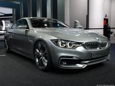 BMW Concept 4 Coupe takes over where 3 Series left off. LOVE the geometric LED light detail.