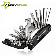 ROCKBROS 16 in 1 Multifunction Bicycle Cycle Repair Tools Kit Hex Spoke Cycling Screwdriver Tools MTB Mountain Bike Repair Tool