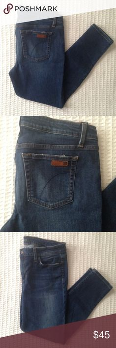 Joe's jeans skinny ankle color Brianna size 32 Skinny leg ankle crop fit Joe's jeans in wash Brianna. Size 32. Waist measures 17 in. Hip is 18.5 in. Rise is 9.5 in. Inseam is 26.5 in. Joe's Jeans Jeans Ankle & Cropped