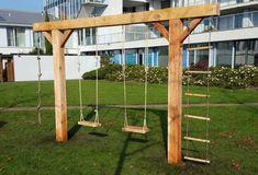 garten schaukel Model A Backyard Swing Sets, Backyard Playset, Diy Swing, Backyard For Kids, Backyard Projects, Outdoor Projects, Backyard Patio, Backyard Landscaping, Swing Sets Diy