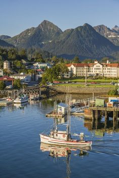 Sitka, Alaska -- Don't forget your boat — this small coastal port is only accessible only by air or sea.
