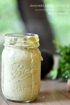 Avocado Ranch Dressing is so good my family and friends devoured it last time I made it!: Avocado Ranch Dressing is so good my family and friends devoured it last time I made it! Salad Dressing Recipes, Salad Recipes, Avocado Recipes, Del Friscos Recipes, Spinach Recipes, Avocado Ranch Dressing, Great Recipes, Favorite Recipes, Summer Recipes