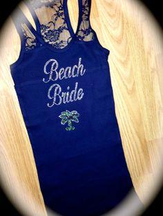 I half lace beach bride tank top. Bridal by MOZtrendMOMMAandME, $15.95