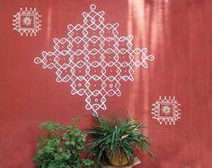 Kolam indiana na parede