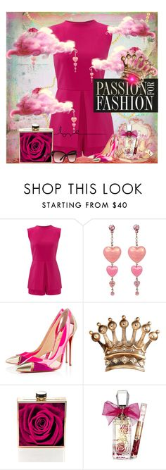 """""""Untitled #63"""" by kiwipeach ❤ liked on Polyvore featuring Laundry by Shelli Segal, Tarina Tarantino, Christian Louboutin, Juicy Couture and Tom Ford"""