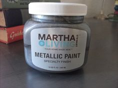Personality Is Preferred: Paint Your Dresser Metallic Silver DIY - Finished - Martha Stewart Paints Silver Painted Furniture, Painted Bedroom Furniture, Refurbished Furniture, Metal Furniture, Furniture Makeover, Diy Furniture, Furniture Knobs, Upcycled Furniture, Martha Stewart Paint