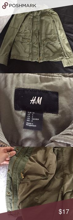 Green military jacket. Great condition H&M Jackets & Coats Utility Jackets