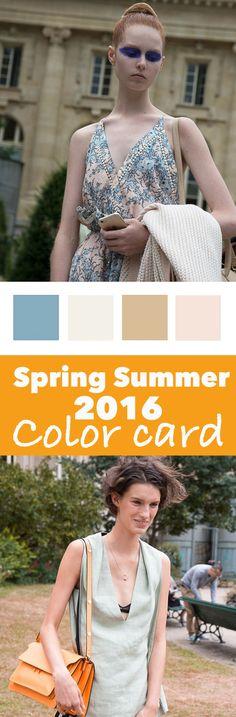 Color card Spring Summer 2016 download direct de gratis colorcard. ♡ Pantone!  | http://trendbubbles.nl/