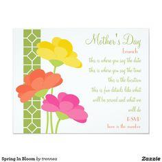Spring In Bloom 4.25x5.5 Paper Invitation Card