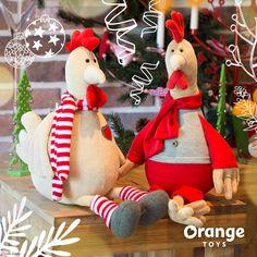 Мягкая игрушка Петушок Юрик 25 см Оранж