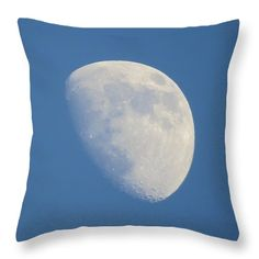"June Moon Throw Pillow (14"" x 14"") by Tammy Finnegan.  Our throw pillows are made from 100% cotton fabric and add a stylish statement to any room.  Pillows are available in sizes from 14"" x 14"" up to 26"" x 26"".  Each pillow is printed on both sides (same image) and includes a concealed zipper and removable insert (if selected) for easy cleaning."