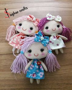 Need to find a pattern maybe to make these cute little things Doll Crafts, Fun Crafts, Diy And Crafts, Tiny Dolls, Cute Dolls, Felt Dolls, Doll Toys, Felt Decorations, Hand Embroidery Designs