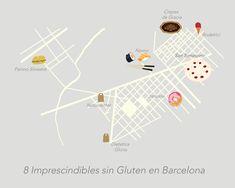 Algunos de mis imprescindibles sin gluten en Barcelona.  Some of my gluten free favourites in Barcelona
