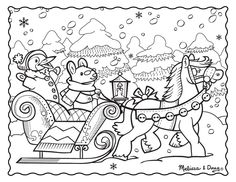 Click here to download our new Winter Sleigh Ride printable, which features a fun winter scene for your family to enjoy!