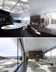 designed by Make Architects for all-star football player Gary Neville is as architecturally daring as it is eco-friendly – it aims to be the first carbon-neutral house in all of Great Britain.