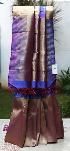 Lakshmi Handwoven Kanjivaram Silk Sari 000397 - Sari / All Saris - Parisera