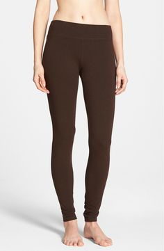 The wide waistband on these leggings tried on at the Anniversary Sale is an added comfort bonus. Cant wait to lounge around in these soft leggings on those chilly fall days.