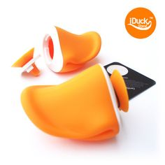 iDUCK is a stand for all mobile phones and small pads.  It is made of eco-friendly material, silicone.  The silicone duck beak is designed to make a convenient angle for users.  Also it has other functions.  * The cap at the back of the duck beak can be open, so you can keep small mobile accessories like earphones in it.  * With the small strap in the package, you can use this duck beak as a key holder.  * iDUCK and the sticker in the package will transform your phone to a cute duck.