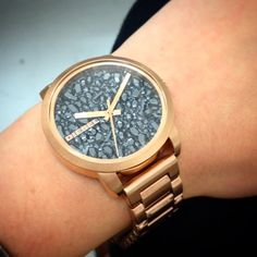 Ladies rose gold Diesel watch AW14 preview.