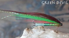 The Green Devil Salmon Tubes Flies tied bt Torve. Pattern by Torve. The River Alta Tube Fly Series