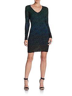 M Missoni Bubble Knit Sheath Dress - Black  - Size 38 (2)