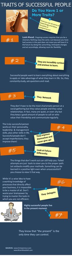Traits of Successful People #Infographic.  Good advice to help you get started in your career