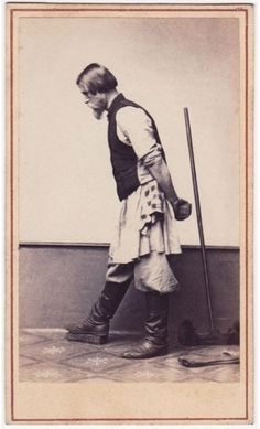 Photograph of a cleaner, by William Garrick, Moscow, Russia, 1860s.