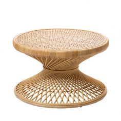 Table basse vintage en rotin L Ushuaia - Drawer Rattan Coffee Table, Wicker Table, Coffee Tables, Ushuaia, Table Design, Decoration, Drawers, Objects, Living Room
