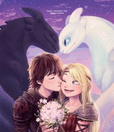seoyeon on - Drachenzähmen leicht gemacht - Valentines day Httyd Dragons, Cute Dragons, How To Train Dragon, How To Train Your, Cute Disney Wallpaper, Cartoon Wallpaper, Disney Kunst, Disney Art, Hicks Und Astrid