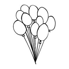 Balloons Coloring Book Page ❤ liked on Polyvore featuring fillers, doodle, backgrounds, drawings, art, text, borders, picture frame, quotes and saying