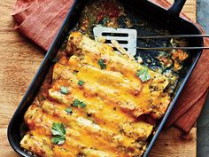 Chicken Enchiladas | Maintaining a healthy weight or trying to lose a few pounds ultimately revolves around the science of counting calories. It's a tedious task to tabulate every morsel you put in your mouth, but there's a simpler and much more flexible strategy: Start a file of skinny recipes. Use this collection of low-calorie dinners as a starting point. As always, taste comes first, so we've pulled together our best recipes that are big on flavor and in step with all the latest food…