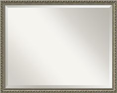 Wall Mirror Large Parisian Silver Wood Outer Size 30 x 24 >>> Want additional info? Click on the image.