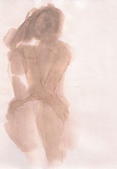 "Saatchi Art Artist: Francois-Henri Galland; Watercolor 2013 Painting ""Untitled"""