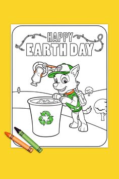 Celebrate sustainability everyday with our favorite recycling pup! Earth Day Activities, Preschool Learning Activities, Toddler Activities, Paw Patrol Rocky, Earth Day Projects, Earth Day Crafts, Earth Day Coloring Pages, Coloring Pages Inspirational, Daisy