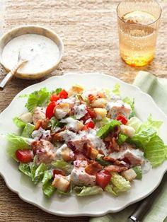 Homemade mayo based dressing for BLT salad
