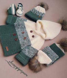 Baby Boy Knitting Patterns, Baby Sweater Patterns, Baby Sweater Knitting Pattern, Sweater Knitting Patterns, Baby Knitting, Knitted Baby Outfits, Knitted Hats Kids, Crochet Baby Clothes, Baby Boy Outfits