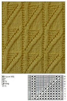 This post was discovered by re Lace Knitting Stitches, Cable Knitting, Crochet Stitches Patterns, Sweater Knitting Patterns, Knitting Charts, Stitch Patterns, Knitted Blankets, Knitting Paterns, Knitting Patterns