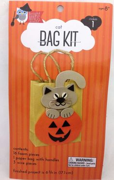 #BrightMindsByNicole #Halloween #TrickorTreat Cat Bag Kit #KidsCraft New